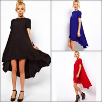 Long Short Sleeve Casual Party Playsuit Clubwear Bodycon Boho Dress _ 8956
