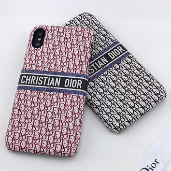 Dior New fashion more letter print protective case phone case
