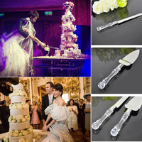 Stainless Steel Wedding Party Cake Knife Server Set