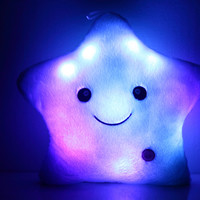 Colorful Lucky Star Glow Pillow