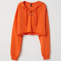 H&M Hooded Sweatshirt with Lacing $24.99