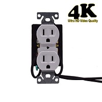 4K WiFi Spy Functional Electrical Outlet Camera - Wall Outlet Hidden Spy Camera