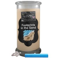 Footprints In The Sand | Chalkboard Candle