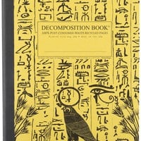 Hieroglyphics Decomposition Book: College-ruled Composition Notebook With 100% Post-consumer-waste Recycled Pages