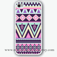 aztec iphone 4 case, iPhone 4s Case, iphone case 4s, Aztec Pattern Print iphone white hard case for iphone 4, iphone 4S