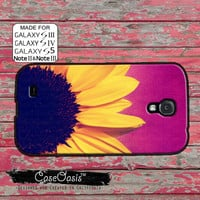Sunflower Flower Purple Ombre Cute Tumblr Inspired Custom Galaxy S5 and S4 and S3 Case and Galaxy Note 2 and Note 3 Case
