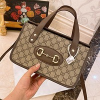 Hipgirls Gucci new retro stitching double G letter ladies shoulder bag diagonal bag