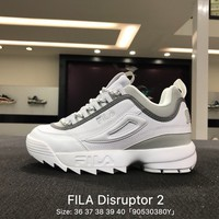 FILA Disruptor II 2 Gray Women Shoes