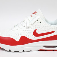 Nike Women's Air Max 1 Ultra Moire White/Red Running Shoes 704995 102