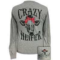 Girlie Girl Originals Preppy Crazy Heifer Long Sleeve T-Shirt