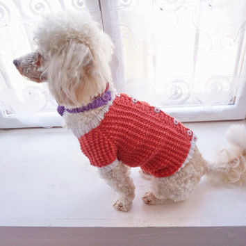 Dog Clothes Toy poodle , Dachshund ,Sweater Warm Hand Knitting For Pets