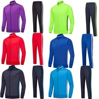 Men's kids long-sleeved breathable Sports Football training tracksuit soccer suit football tracksuit jacket sets 6805