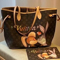 LV graffiti printing women's shopping bag handbag mother-in-law bag two-piece set