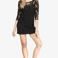 BAROQUE LACE DRESS - BLACK from EXPRESS