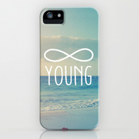 Forever Young Infinity Beach Sky Photo iPhone & iPod Case by hyakume