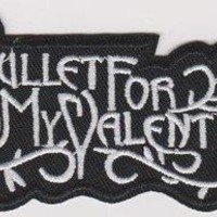 Bullet For My Valentine Iron-On Patch White Letters Logo