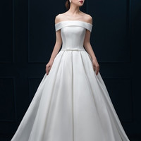 Milano Off-the-Shoulder Gown with Full Skirt