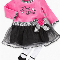 Baby Essentials Baby Set, Baby Girls Bodysuit with Skirt and Leggings Set - Kids Shop All Baby - Macy's