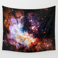 Galaxy Wall Tapestry by 2sweet4words Designs