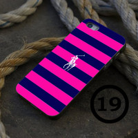 Polo Ralph Lauren Blue Pink Stripe - iPhone 4/4s, iPhone 5/5S, iPhone 5C and Samsung Galaxy S3/S4 Case.