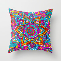Expanding Petals Throw Pillow by PeriwinklePeacoat | Society6