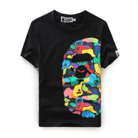 Men Bape color T-Shirt