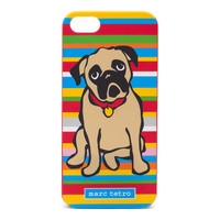 Pug on Stripes iPhone 5|5S Case
