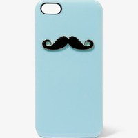 FOREVER 21 Mustache Charm Phone Case Black/White One