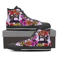 Sewing Machine Floral Shoes