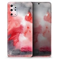 Red Pink 3 Absorbed Watercolor Texture - Skin-Kit for the Samsung Galaxy S-Series S20, S20 Plus, S20 Ultra , S10 & others (All Galaxy Devices Available)