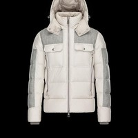Moncler Lioran Down-Quilted Wool Coat