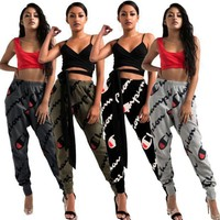 Champion Women Fashion Print Sport Stretch Pants Joggers Three Color