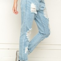 Brandy & Melville Deutschland - Destroyed Boyfriend Denim Jeans