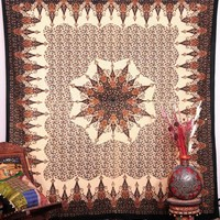 The Cora Copper Gold Brown Boho Bohemian Bedspread Wall Tapestry