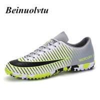 Broken Nails Football Shoes men 2017 Popular Outdoor Lawn Soccer boots Boys Football sneakers Kids Training Soccer shoes shoes