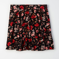 AE Godet Mini Skirt, Black