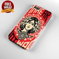 Obey Propaganda Full Wrap Phone Case For iPhone, iPod, Samsung, Sony, HTC, Nexus, LG, and Blackberry
