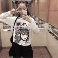 2015 summer harajuku punk vintage exclusive horror comics printed loose slim white short sleeve T shirt women wholesale-in T-Shirts from Women's Clothing & Accessories on Aliexpress.com   Alibaba Group