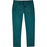 River Island MensJade green slim chinos