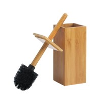 Stylish Toilet Brush In Natural Bamboo Or Espresso