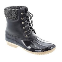 Water-16 Faux Leather Duck Boots