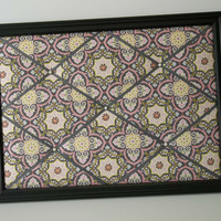 Turkish Delight fabric ~ Framed French Memo Board