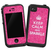 """Keep Calm and Sparkle """"Protective Decal Skin"""" for Lifeproof iPhone 4/4s Case"""