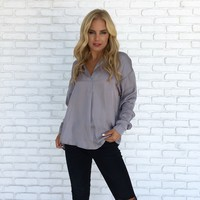 Rise & Shine Blouse in Grey
