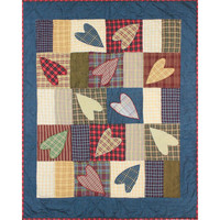 BELLACOR QCCUHR Patch Magic Country Hearts 36 x 46-Inch Quilt Crib