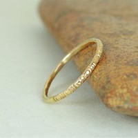 14k Solid Gold Bohemian Ring, G5