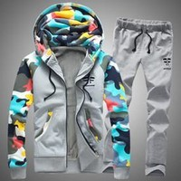 Men's Camouflage Sweat Suits Up To 4XL
