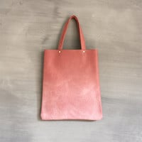 Old Pink ombre airbrushed tote