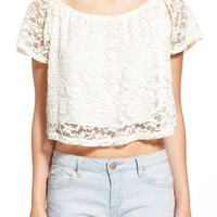Threads Lace Crop Peasant Top | Nordstrom
