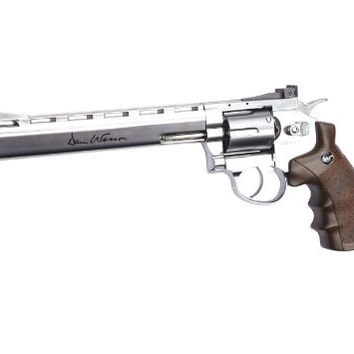 "ASG Licensed Dan Wesson 8"" CO2 Airsoft Revolver - Silver"
